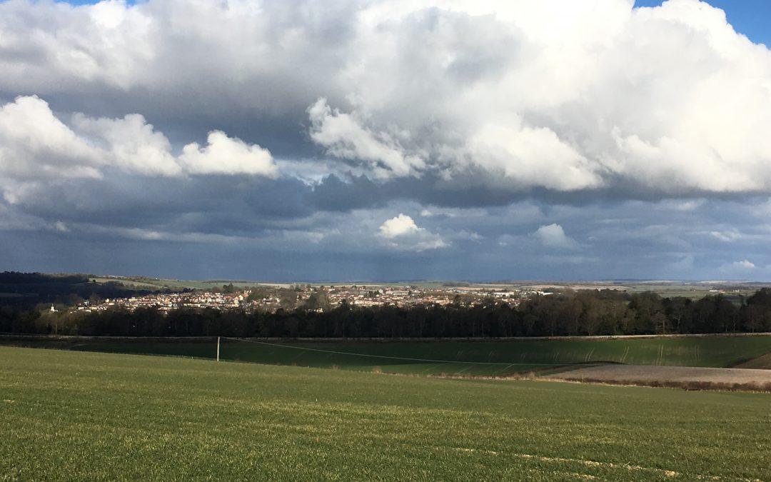 stunning view of blandford from B&B farm walk